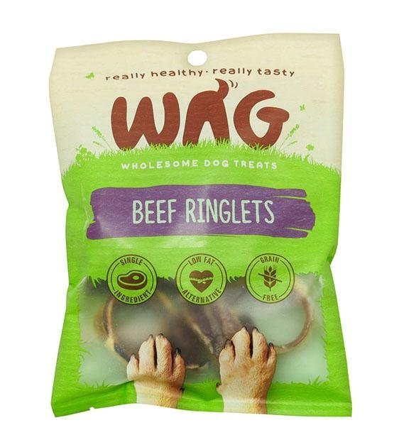 BUY 2 FREE 1: WAG Air Dried Beef Ringlets Dog Treats