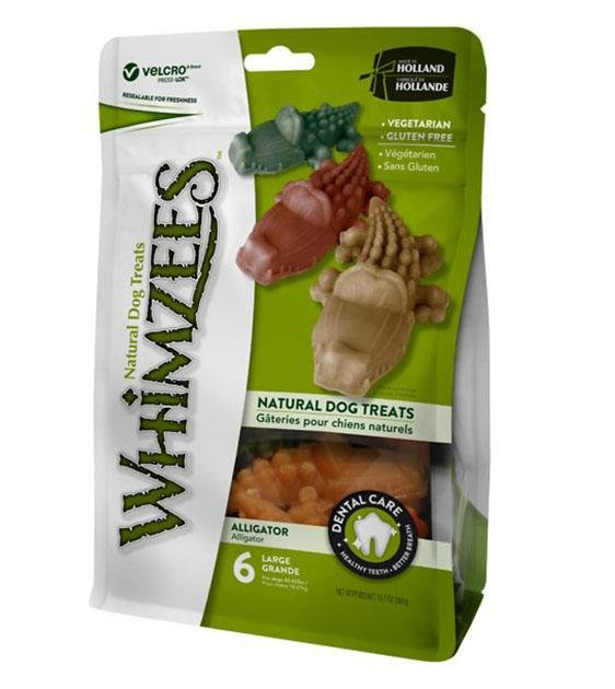 BUY 2 FREE 1: WHIMZEES Natural Alligator Dental Dog Chews