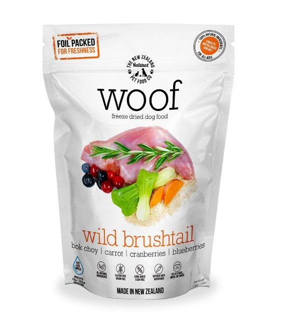 30% OFF: WOOF Freeze Dried Raw Wild Brushtail Dog Food