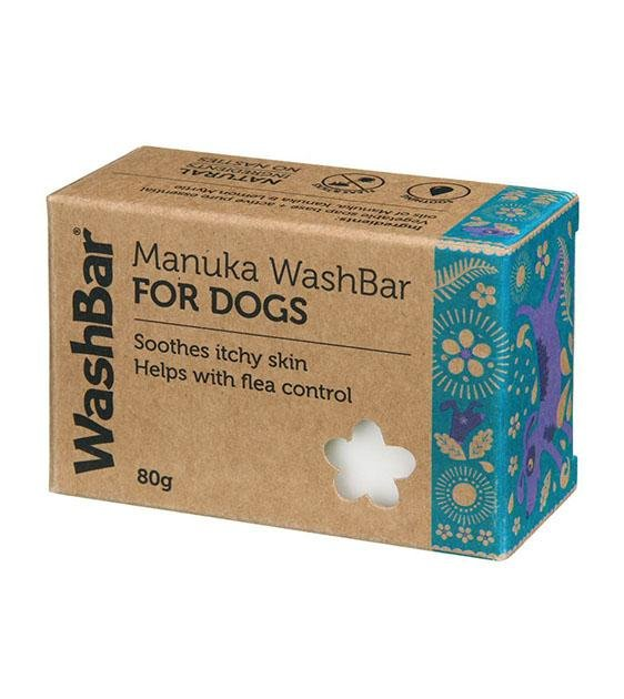 Washbar Natural Manuka Soap for Dogs (Itch Relief, Flea & Tick Prevention)
