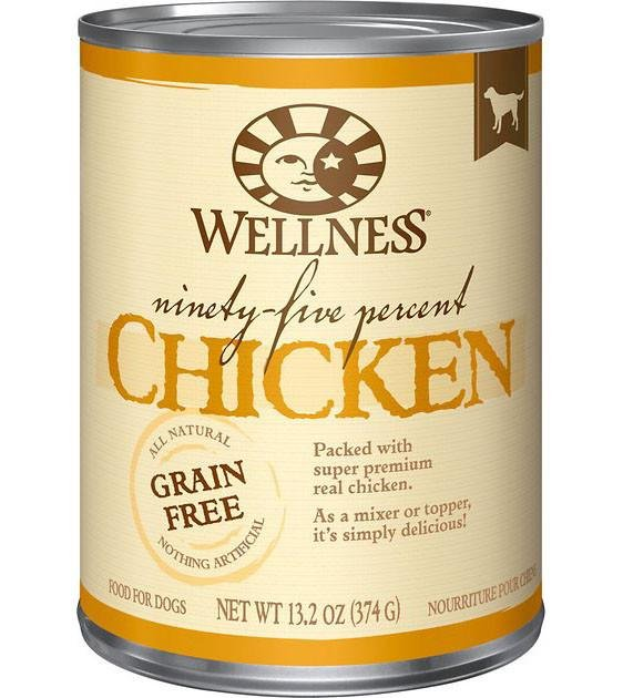 Wellness 95% Grain Free Chicken Mixer & Topper Canned Dog Food