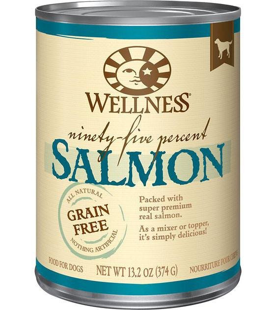 Wellness 95% Grain Free Salmon Mixer & Topper Canned Dog Food