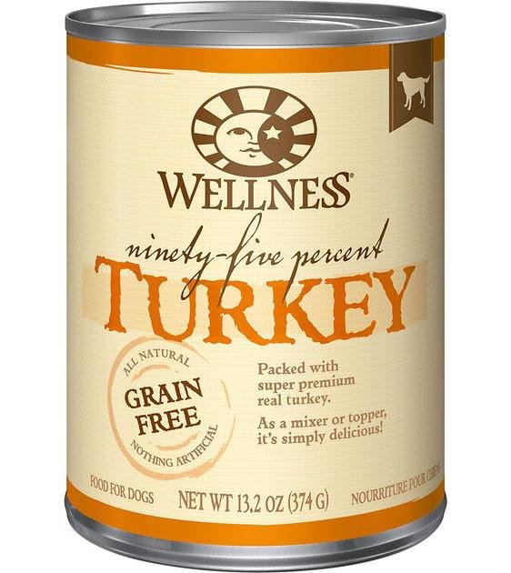 Wellness 95% Grain Free Turkey Mixer & Topper Canned Dog Food
