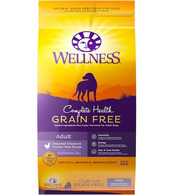 20% OFF + FREE TREATS: Wellness Complete Health Grain Free Deboned Chicken & Chicken Meal Dry Dog Food
