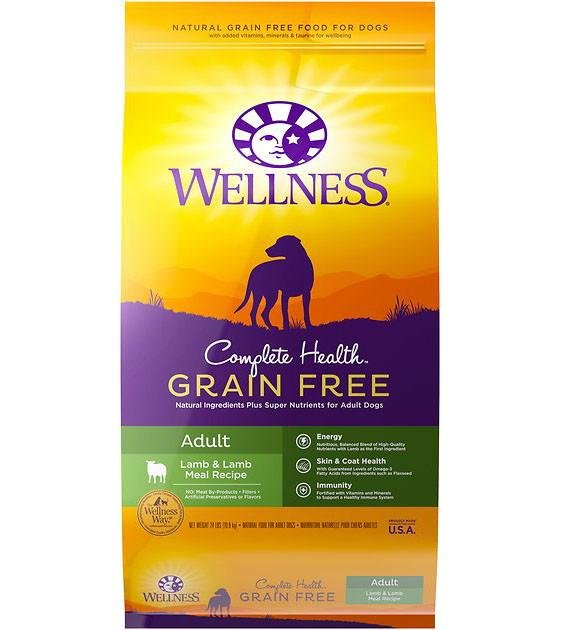 20% OFF + FREE WET TOPPER: Wellness Complete Health Grain Free Lamb & Lamb Dry Dog Food