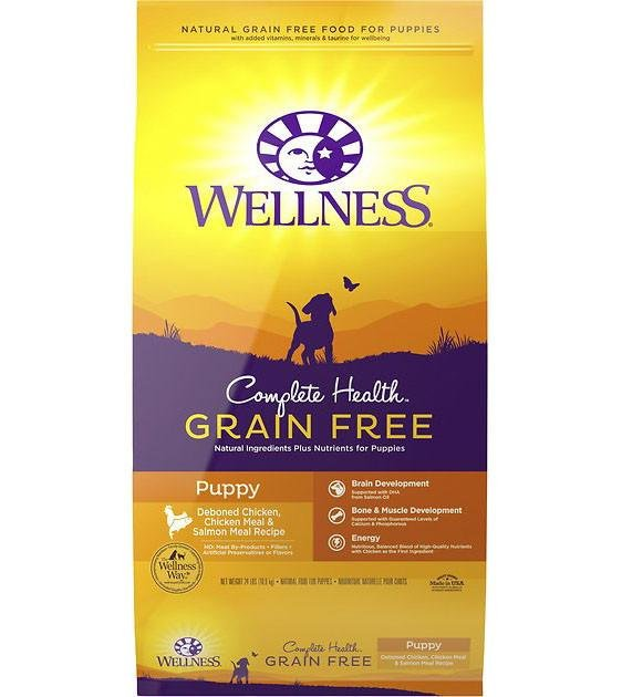 20% OFF + FREE WET TOPPER: Wellness Complete Health Grain Free Puppy Dry Dog Food