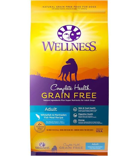 20% OFF + FREE TOPPER: Wellness Complete Health Grain Free Whitefish & Menhaden Meal Dry Dog Food