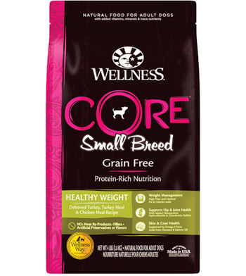 Wellness Core Grain Free Small Breed (Healthy Weight) Dry Dog Food