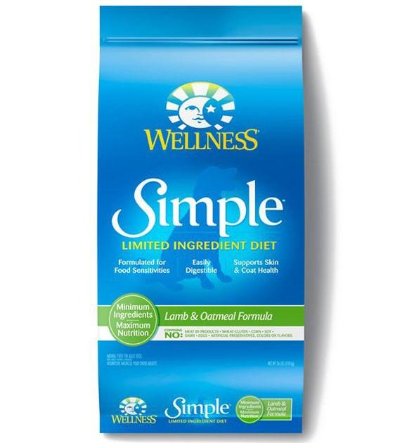 30% OFF + FREE TREATS: Wellness Simple Lamb & Oatmeal Formula Dry Dog Food