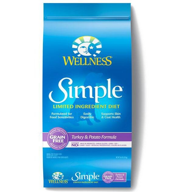 20% OFF + FREE WET TOPPER: Wellness Simple Turkey & Potato Formula Dry Dog Food