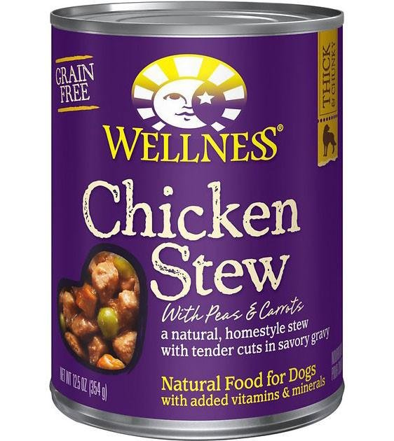 Wellness Stews Chicken Stew with Peas & Carrots Canned Dog Food