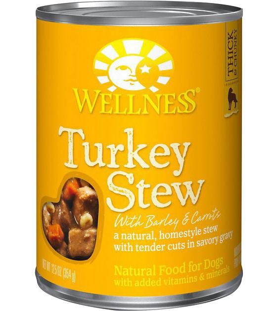 Wellness Stews - Turkey Stew with Barley & Carrots Canned Dog Food