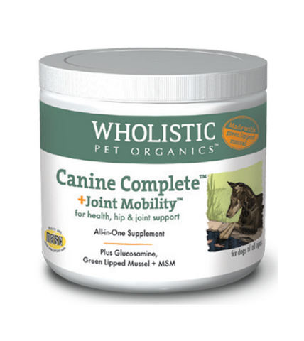 Wholistic Pet Organics Canine Complete Joint Mobility with Green Lipped Mussel for Health, Hip & Joint Support Dog Supplements
