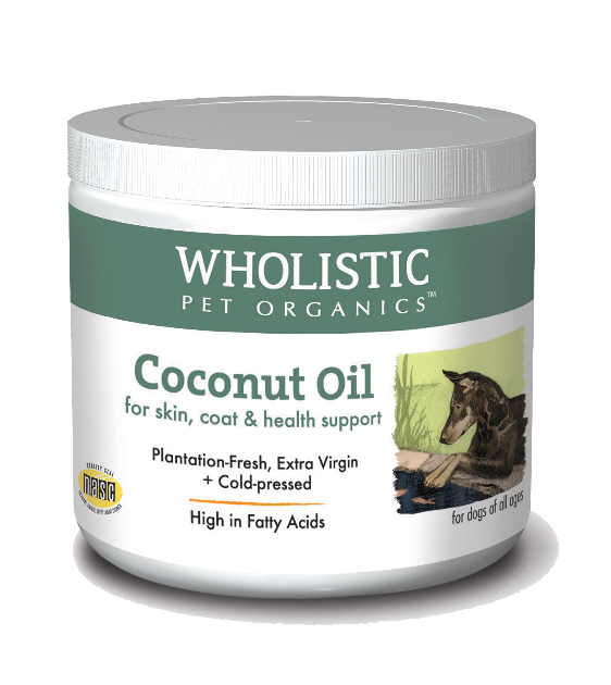 Wholistic Pet Organics Coconut Oil for Skin, Coat and Health Support Dog Supplements
