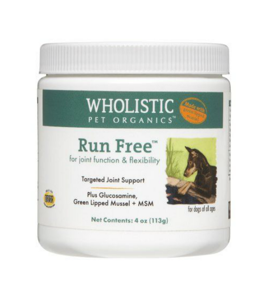 Wholistic Pet Organics Run Free with Green Lipped Mussel for Joint Function & Flexibility Dog Supplements