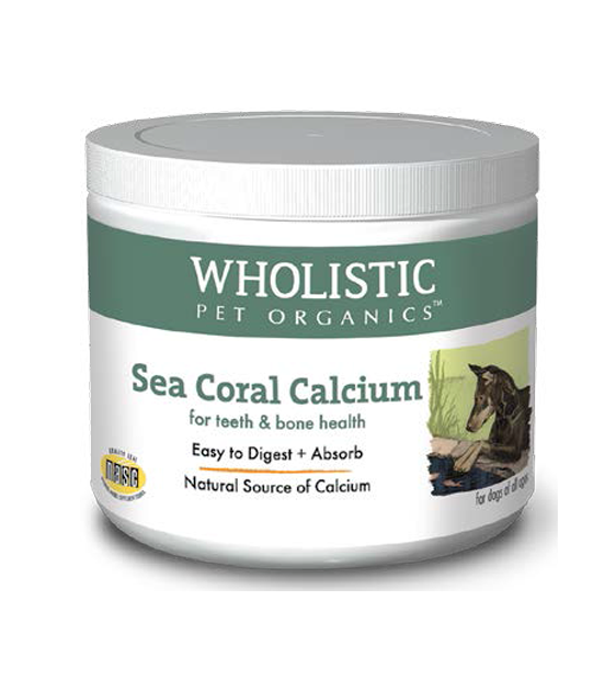 Wholistic Pet Organics Sea Coral Calcium for Teeth & Bone Health Dog Supplements
