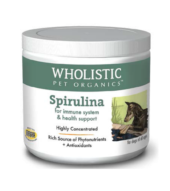 Wholistic Pet Organics Spirulina (Pure) for Immune System & Health Support Dog Supplements