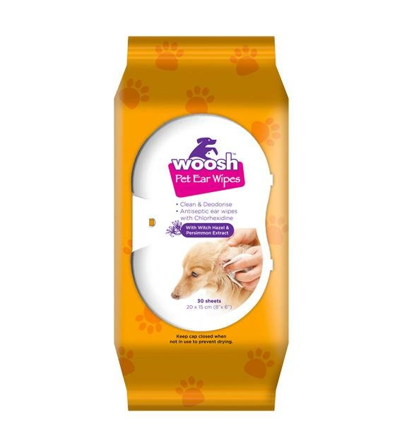 Woosh's Pet Ear Wipes For Cats & Dogs