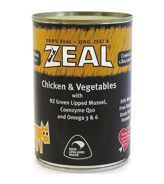 Zeal Chicken & Vegetables Adult Canned Dog Food