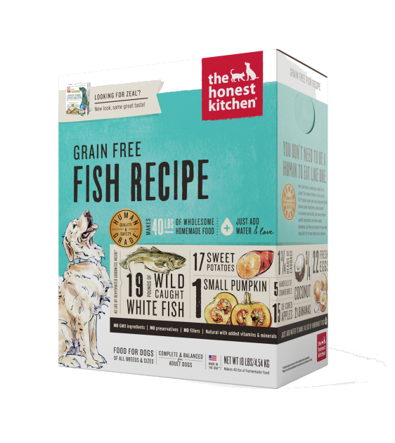 The Honest Kitchen Grain Free Zeal Fish Dehydrated Dog Food
