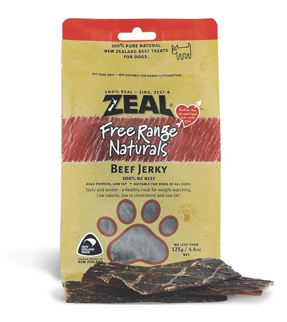 Zeal Free Range Air Dried Beef Fillet Dog Treats