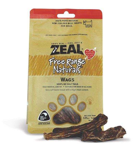 BUY 2 FREE 1: Zeal Free Range Air Dried Calf Tails Wags Dog Treats