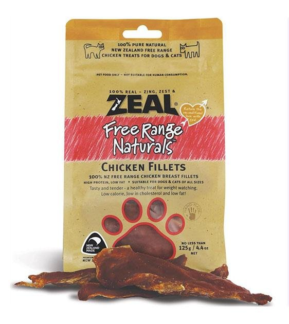 Zeal Free Range Air Dried Chicken Fillets Cat and Dog Treats