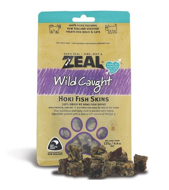 Zeal Free Range Air Dried Hoki Fish Skins Cat and Dog Treats