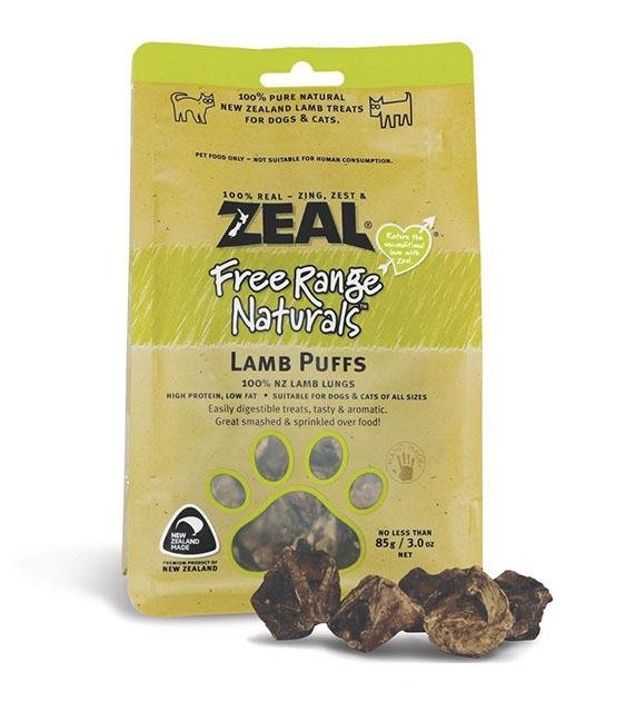 Zeal Free Range Air Dried Lamb Puffs Cat and Dog Treats
