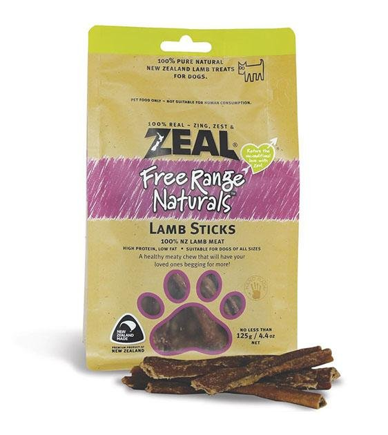 BUY 2 FREE 1: Zeal Free Range Air Dried Lamb Sticks Dog Treats