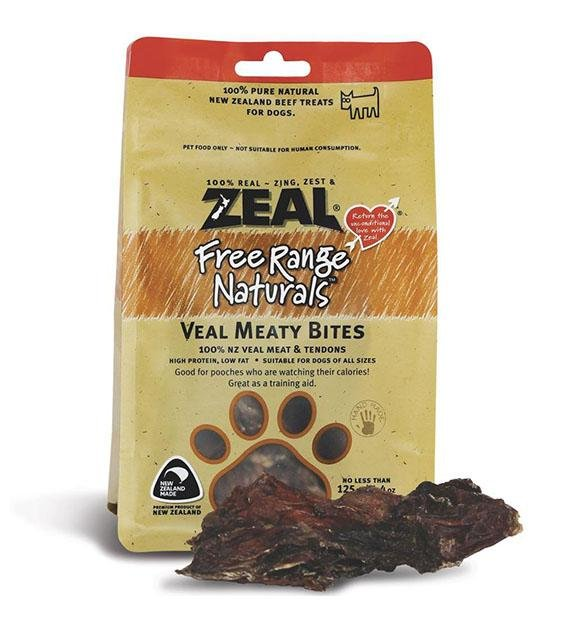 BUY 2 FREE 1: Zeal Free Range Air Dried Veal Meaty Bites Dog Treats