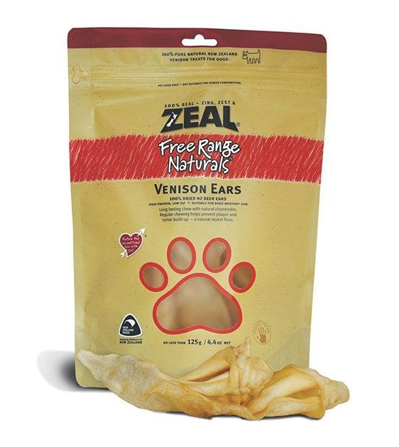 BUY 2 FREE 1: Zeal Free Range Air Dried Venison Ears Dog Treats