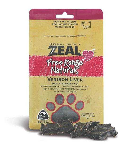 BUY 2 FREE 1: Zeal Free Range Air Dried Venison Liver Dog Treats