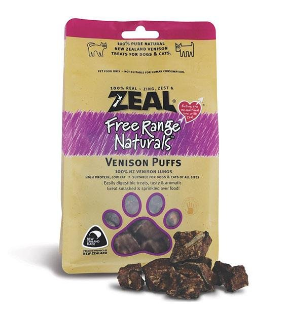 BUY 2 FREE 1: Zeal Free Range Air Dried Venison Puffs Cat and Dog Treats