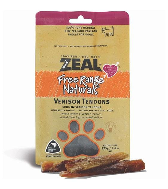 BUY 2 FREE 1: Zeal Free Range Air Dried Vension Tendons Dog Treats