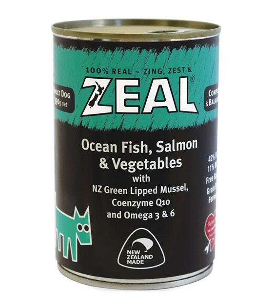 Zeal Ocean Fish, Salmon & Vegetables Adult Canned Dog Food