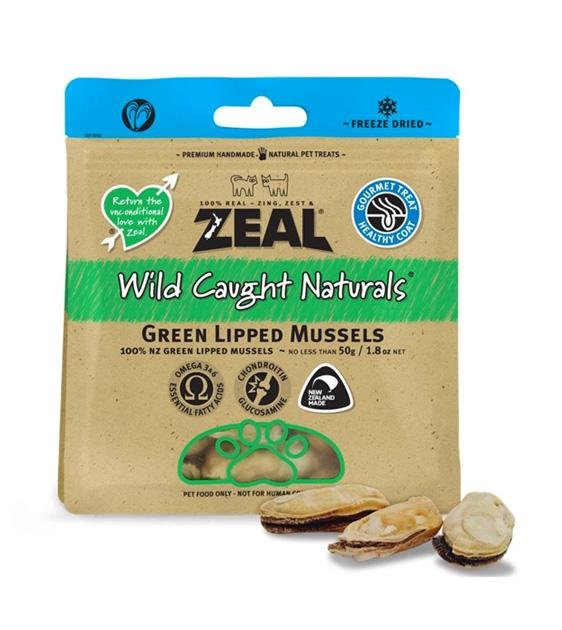BUY 2 FREE 1: Zeal Free Range Freeze Dried Green Lipped Mussels Cat and Dog Treats