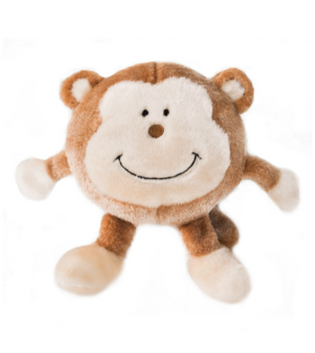 ZippyPaws Brainey Monkey Dog Toys
