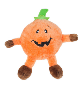 ZippyPaws Brainey Pumpkin Dog Toys