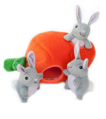 ZippyPaws Burrow Bunny 'n Carrot Dog Toys