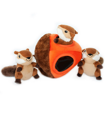 ZippyPaws Burrow Chipmunk 'n Acorn Dog Toys