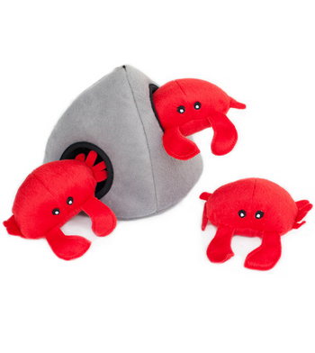 ZippyPaws Burrow Crab 'n Rock Dog Toys