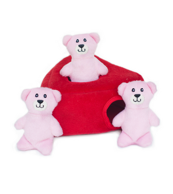 ZippyPaws Burrow Heart 'n Bears Dog Toys