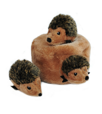 ZippyPaws Burrow Hedgehog Den (Brown) Dog Toys