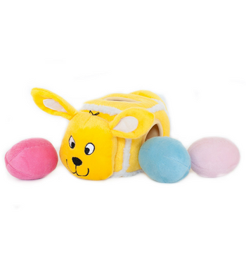 ZippyPaws Burrow Hide-An-Egg Bunny (Easter) Dog Toys