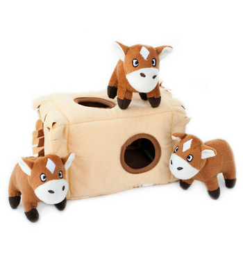 ZippyPaws Burrow Horse 'n Hay Dog Toys
