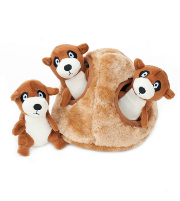 ZippyPaws Burrow Meerkat Den Dog Toys