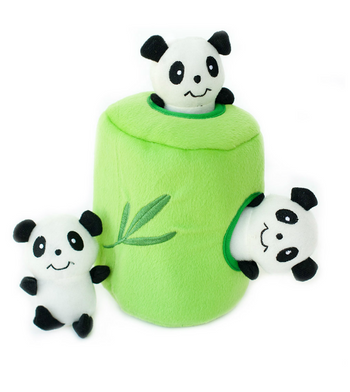 ZippyPaws Burrow Panda 'n Bamboo Dog Toys