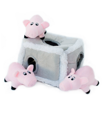 ZippyPaws Burrow Pig Pen Dog Toys