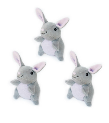 ZippyPaws Burrow Refill (3/Pack) Bunnies Dog Toys